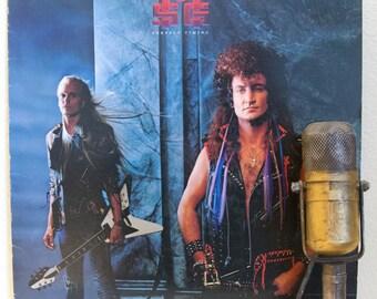 "ON SALE Michael Schenker (UFO) Vinyl Record Album 1980s Big Hair Arena Rock Electric Guitar Hero Jams ""Perfect Timing"" (1987 Emi w/""Gimme Yo"