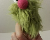 FUZZINGER: A Fuzzy Finger Puppet by All Hands Productions! (olive green)