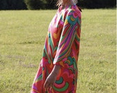 Psychedelic Abstract 60's Dress RESERVED FOR ALANNAH