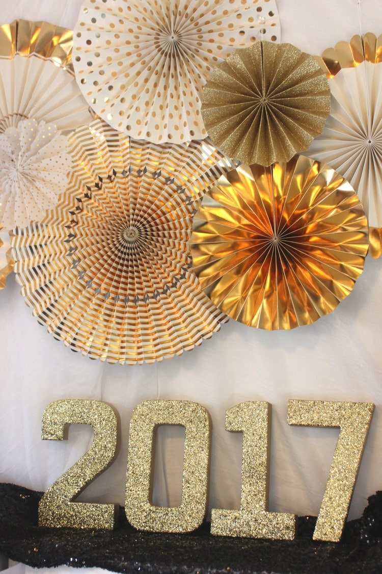 Sale 2017 GLITTER NEW YEAR Numbers Glittered by ...