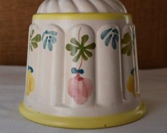 Vintage Hand Painted PORTIGAL Pottery Pot Pottery Flower Pot Herb Pot Baking Pot Small Baker Bread Mold Baking Pot Small Baker Pot