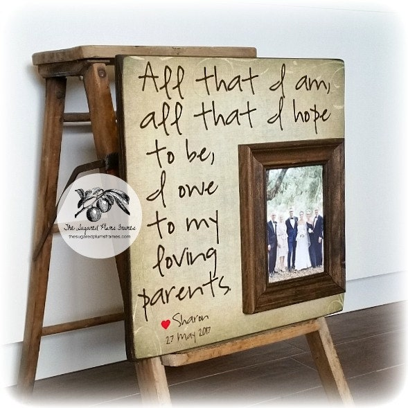 Personalized Wedding Picture Frames For Parents : Personalized Picture Frame Wedding Gift For Parents All That
