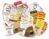 Assortment of 24 Authentic Liquor Labels