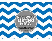 RESERVED LISTING - Personalized Liquor Labels and/or Empty 50 mL Mini Bottles
