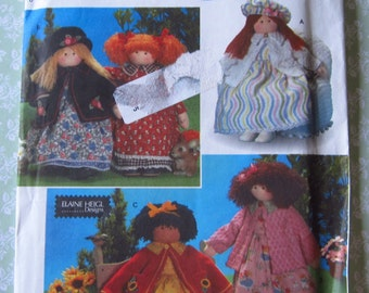 26 Inch Doll and Clothes by Elaine Heigl Designs UNCUT Simplicity Crafts Pattern 8835