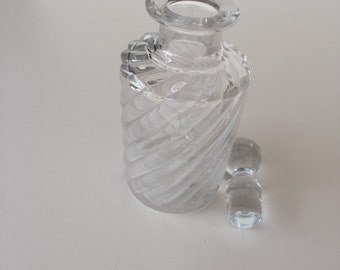Baccarat Perfume Bottle/ Antique Baccarat Crystal BAMBOU TORS Pattern/ Glass Perfume Bottle/ By Gatormom13