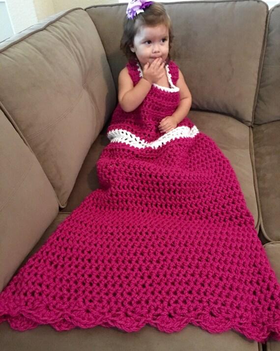 Crochet Pattern Princess Dress Blanket : Princess Dress Blanket dress up play clothes unique