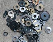 Vintage clock parts -- small disc -- D8