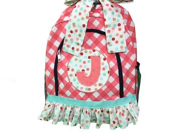 Backpacks, Back to School, Girls Backpack, School Bag, Monogrammed Backpack, Girls Book Bag, Book Bag, School Supplies, Girls School Bags