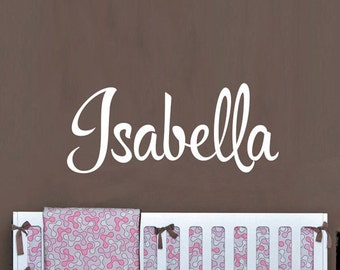 Baby Name Wall Decor - Personalized Kids Name Wall Decal - WAL-2158