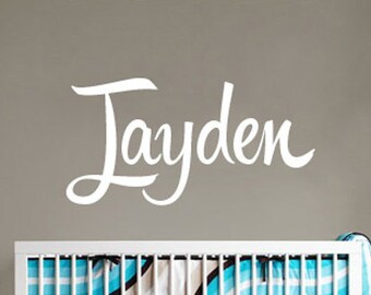 Kids Name Wall Sticker - Baby Shower Gift Name Wall Decal - WAL-2158