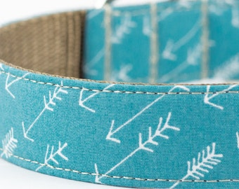 Arrows Dog Collar in Ocean