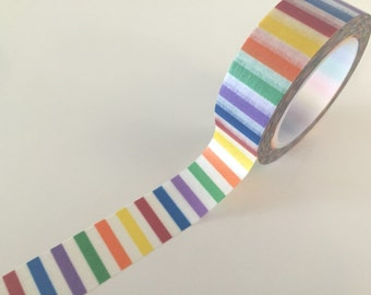 Rainbow Stripes Washi tape - 15 mm Wide - 10 meters WT771