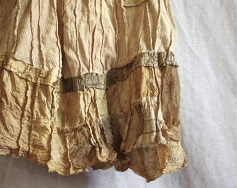 SUNBAKED Construction / Rayon, Hemp, Peace Silk, Cotton, Linen / Stained with Natural Plant Dyes / Size: S to M / Comfortable Drape