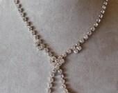 Vintage Clear Rhinestone Choker Necklace
