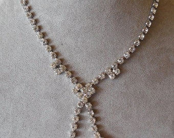 Vintage Clear Rhinestone Choker Necklace