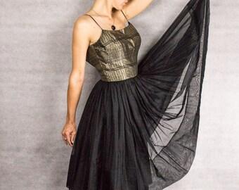 50s Ballet Exotica Dress///Size S/M
