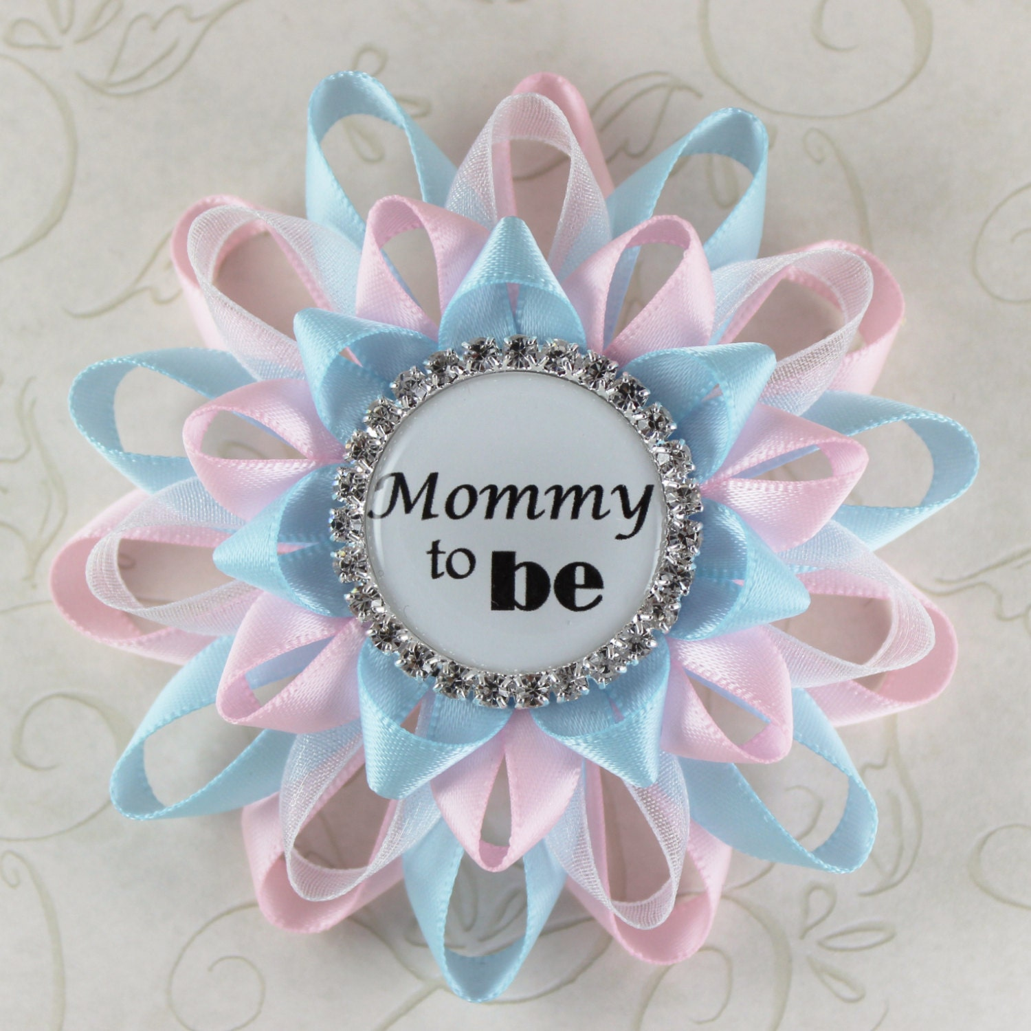 neutral baby shower boy or girl new mom gift mom to be corsage