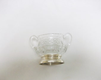 Sterling Silver & Glass Bowl /