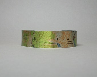Cuff Bracelet Kings Canyon National Park California Map Unique Hiker Gift for Men or Women