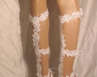 Barefoot Sandals, Lace Barefoot Sandals, Lace Up The Leg Barefoot Sandals