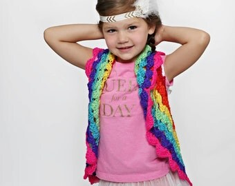 Girls Rainbow Bolero Fits size 4T to 8x, Girls Shrug- Crochet Shrug, Crochet Bolero