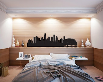 Los Angeles Skyline, Wall Art, Wall Decals, City Skyline, Los Angeles, California, Home Decor, Wall Decor