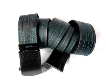 SLIDE BUCKLE Bike Tube Belt with Black Thread