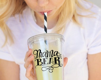 Tumbler - Mama bear - 16 oz