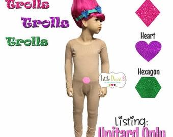 Troll Unitard /Child ---(Scoop) Neck Long Sleeve Unitard.... (Unitard -ONLY)