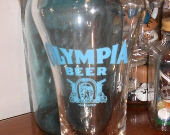Vintage OLYMPIA Beer Glass Tumwater Washington