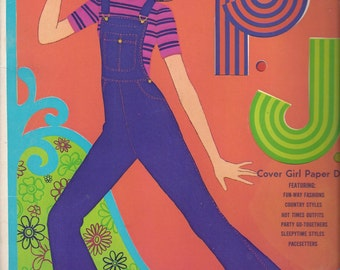 P.J. Cover Girl Vintage Paper Doll Book, C1971 (some cut/missing)