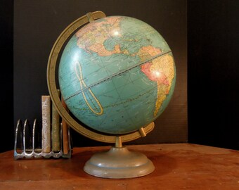 Vintage Cram's Universal Globe of the World / Office Decor / Display / George F. Cram