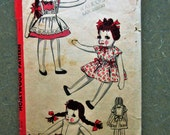 Vintage Hollywood 1687 Sewing Pattern, 1940s Doll Pattern, Rag Doll Pattern, Doll Clothes, 1940s Sewing Pattern, 21 Inch Doll Pattern