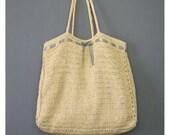 Woven Straw Tote - Raffia Handbag - Navy Blue White Gingham Trim Straw Handbag - Oversize Purse - Beach Bag Tote - Raffia Straw Purse