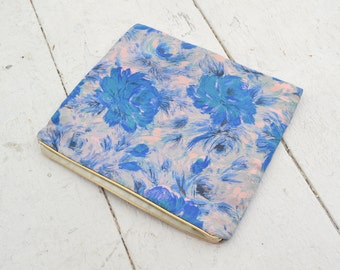 1960s Blue Floral Lingerie Bag