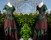 Silver Suoti Outfit ~ Layered Faerie Skirt & Top ~ Cotton Jersey ~ Made to Measure ~ Festival Clothing ~ Woodland Wear ~ Faery Clothing ~