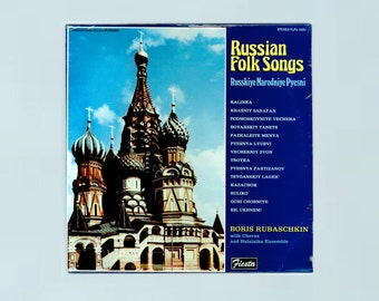 Russian Folk Songs - Russkiye Narodniye Pyesni, Boris Rubaschkin with Chorus and Balalaika Eensemble Vintage Record Album Unopened Fiesta LP