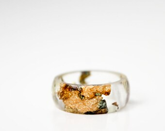 clear size 6.5 round resin eco resin ring