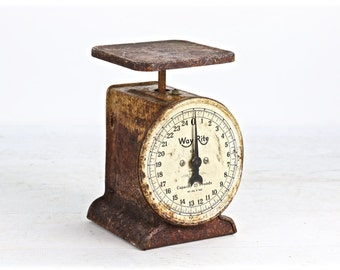 Vintage Scale, Antique Kitchen Scale, Rusty Scale, Rustic Kitchen Scale, Primitive Scale, Rusty Old Scale, Farmhouse Decor, Old Scale