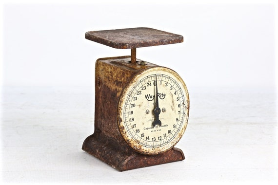 Vintage Scale Antique Kitchen Scale Rusty Scale Rustic