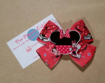 Minnie Mouse Inspired Hair Bow - Ready to Ship