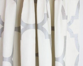 Windsor Smith Riad Custom Pleated Drapes (shown in Pearl Silver-Comes in 11 Colors)