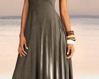 A beautiful summer dress with a wide long skirt
