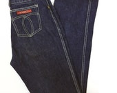 Perfect High Waisted Dark Denim Sassoon Jeans, True Vintage 80s, 27 waist
