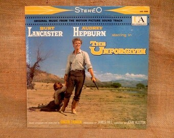 The UNFORGIVEN - Original Motion Picture Soundtrack - 1960 Vintage GATEfold 2Lp Vinyl Record Album