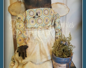 Primitive Folk Art Black Doll, prim black doll, primtive gardening angel, prim angel, garden, Primitive Angel, Prim Doll, Black doll