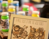 """Where the Wild Things Are- favor sign """"a magic trick to tame the wild things""""- PDF file"""