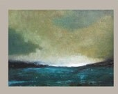 Smoky and Fresh - Oil Painting Original - landscape painting - clouds, skyscape painting on canvas - impressionist - abstract landscape