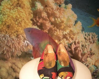Paloma Abstract Funky Pumps, 80s